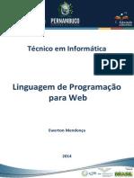 Caderno de INFO(Linguagem de Programação Para Web)