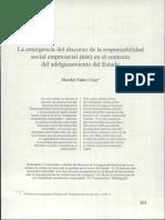 Responsabilidad Social Empresarial en El Contexto de Adelgazamiento Del Estado