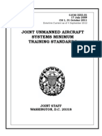 Joint Unmanned Aircraft Systems Minimum Training Standards