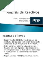 Análisis de Reactivos