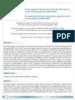 Análisis retrospecvo de los registros clínicos del Centro de Veterinaria y Zootecnia de la Universidad CES 2004-2009*