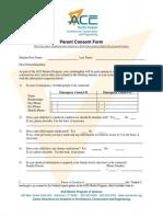 parent consent form