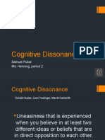 Cognitive Dissonance Powerpoint