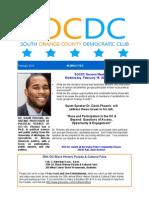 SOCDC February 2015 Newsletter
