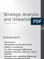 Strategic Analysis and Globalisation