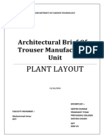 architectural brief - plant layout