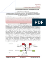 A flywheel energy storage system for an isolated micro-grid