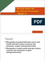 5 Model Interaksi Manusia Komputer Bagian 2