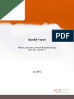 Market Outcomes in South Australia
