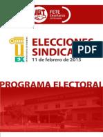 Programa Electoral FETE-UGT UEx
