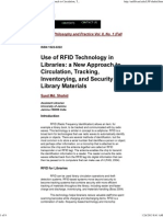 Use of RFID Technology in Libraries_ a New Approach to Circulation, Tracking, Inventorying, And Security of Library Materials, Syed Md. Shahid