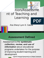 Assessment and Evaluation Defined