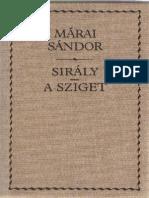 Márai Sándor Sirály a Sziget