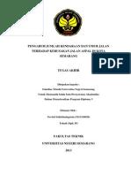 Pengaruh Jumlah Kendaraan Dan Umur Jalan Terhadap Kerusakan Jalan Aspal Di Kota Semarang