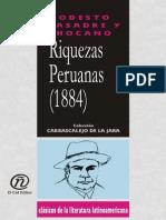 Riquezas Peruanas (1884) - Basadre y Chocano, Modesto (Author)