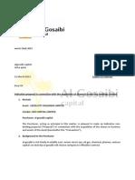 Al Gosaibi Letter