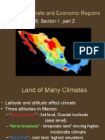 Mexico's Climate and Economic Regions