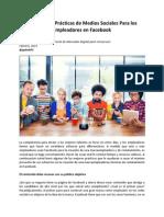 Las Mejores Prácticas de Medios Sociales Para los Empleadores en Facebook