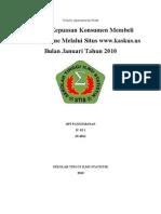 Analisis Kepuasan Konsumen Membeli Barang Online Melalui Situs www.kaskus.us Bulan Januari 2010