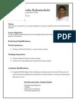 CV Kaluarachchi