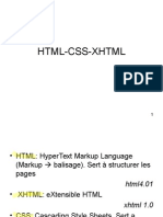 HTML Css Xhtml