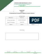 Cdi-ee-pr-07 Procedimiento de Instalacion de Registros y Accesorios Electricos Rev02