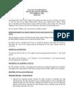 Council Meeting Minutes Nov. 25, 2014
