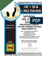 Footprints 2nd Annual Race Flyer