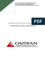 Ositran - Consideraciones Para El Examen CEU 2013