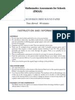 2011 Imas_junior Division First Round Paper