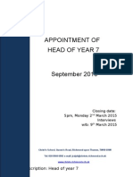 Head of Year 7