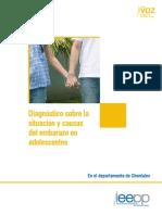 Diagnostico Sobre La Situacion y Causas Del Embarazo en Adolescentes en Chontales