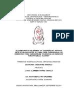 El Cumplimiento Del Estado Salvadoreño Del Articulo Siete de La Convencion Belem Do Pará%2c en Relacion a Los Feminicidios Com (1)