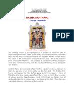 Ratha Sapthami (Surya Jayanthi)