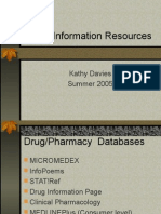 Drug Information Resources 2005
