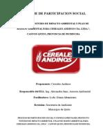 Informe de Participacion Social Cereales Andinos