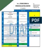Draft Programme STO 1st Module
