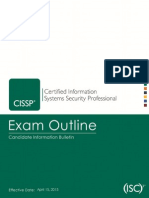 Cissp Exam Outline April 2015