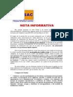 Nota Informativa Feb. 2015