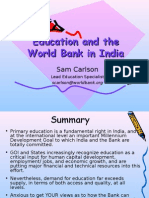 Education and The World Bank in India.PPT
