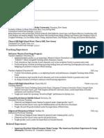 Professional Resume - February 2015