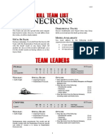 Kill Team List - Necrons v3.0