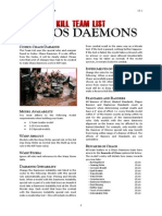 Kill Team List - Chaos Daemons v3.1