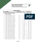 Costos Unitarios Tuberia Agua Potable 2014_2