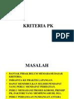 1.Kriteria Pk