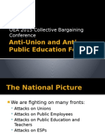 Anti-Union and Anti-Public Education Forces Part 1