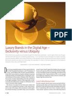 Luxury Brands in the Digital Age