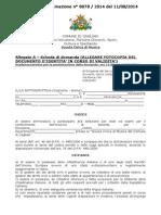 ScuolaCivicaMusica BandoSelezioneDocenti as 2014 2017 AllegatoADomanda Cagliari