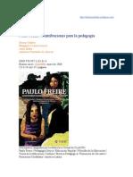 Freire Contribuciones para la pedagogía