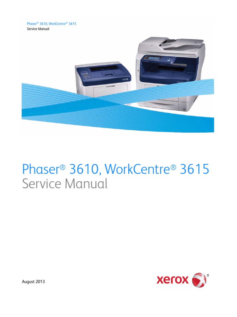 Xerox Workcentre 3615 Factory Reset